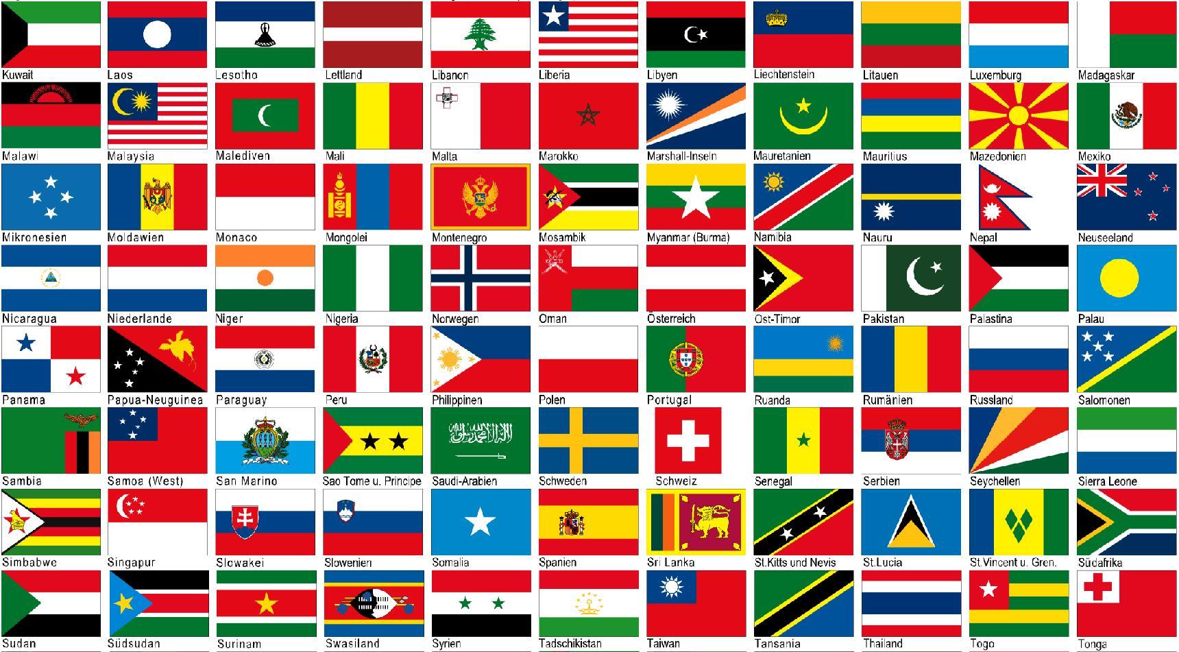 Fahnen Der Länder